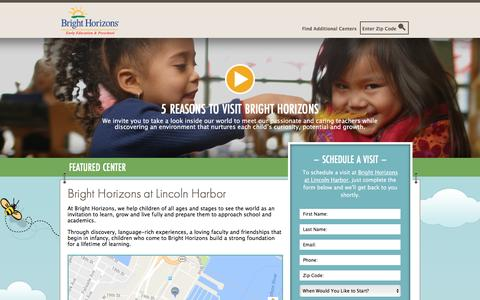 Screenshot of Landing Page brighthorizons.com - Bright Horizons® | Child Care, Back-Up Care, Early Education, and Work/Life Solutions - captured Nov. 9, 2016