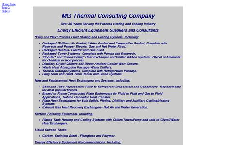 Screenshot of Home Page mgthermalconsulting.com - Home Page - captured Feb. 3, 2016