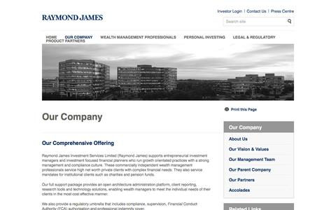 Our Company | Raymond James Investments Services