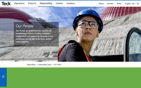 Screenshot of Team Page teck.com - Our People - Teck - captured April 3, 2017