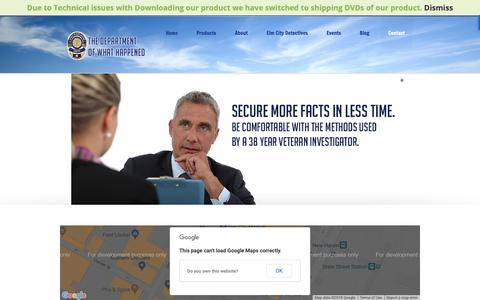 Screenshot of Contact Page thedeptwhathappened.com - Contact | The department of what happened - captured Nov. 14, 2018