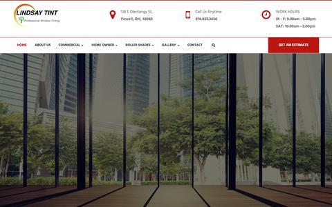 Screenshot of Home Page lindsaytint.com - Lindsay Tint - Professional Window Tinting - captured May 19, 2017