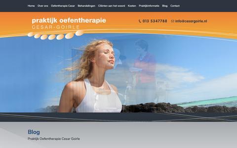 Screenshot of Blog cesargoirle.nl - Contact | Praktijk Oefentherapie Cesar Goirle - captured March 14, 2017