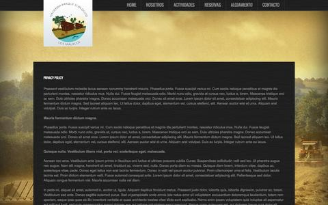 Screenshot of Privacy Page losmalacos.com - Privacy Policy - captured Oct. 1, 2014