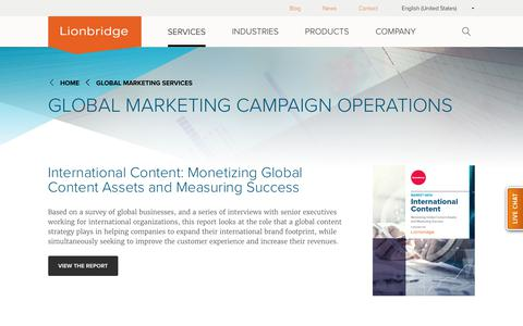 Global Marketing Campaign Optimization by Lionbridge