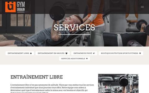 Screenshot of Services Page gymurbain.com - Services | Gym Urbain - captured Dec. 16, 2015