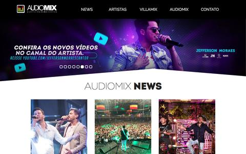 Screenshot of Home Page audiomix.com.br - AudioMix - Os Melhores Estão AquiAudioMix - Os Melhores Estão Aqui - captured Feb. 7, 2018