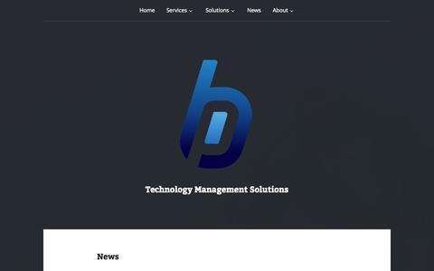 Screenshot of Press Page blueprime.com - News | - captured Oct. 5, 2014