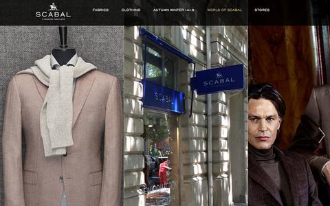 Screenshot of Press Page scabal.com - News - World Of Scabal - Scabal - captured Oct. 29, 2014