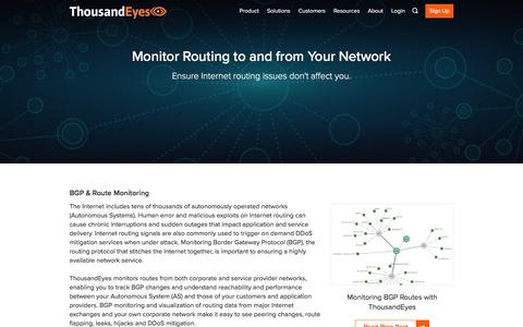 BGP and Route Monitoring | ThousandEyes
