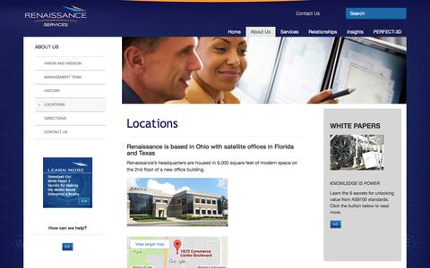 Screenshot of Locations Page ren-services.com - Office Locations of Renaissance Services - captured Nov. 9, 2017