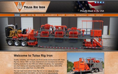 Screenshot of Contact Page tulsarigiron.com - Tulsa Rig Iron | Kiefer OK - captured Oct. 7, 2014