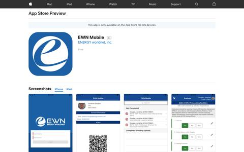 EWN Mobile on the AppStore
