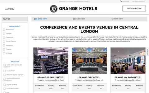 Conference & Event Venues in Central London | Grange Hotels