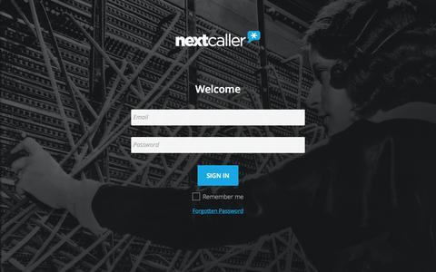 Screenshot of Login Page nextcaller.com - Business Login - captured Nov. 18, 2015