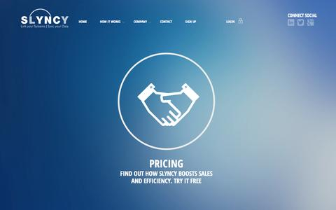 Screenshot of Pricing Page slyncy.com - Slyncy - Pricing   Slyncy - captured Oct. 26, 2014