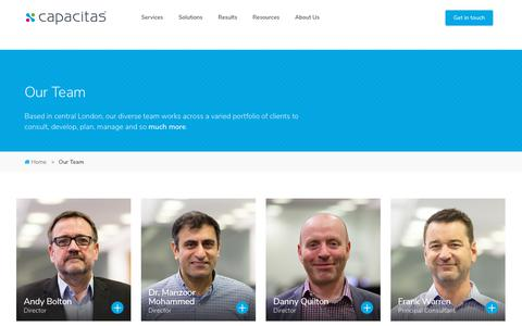 Screenshot of Team Page capacitas.co.uk - Team Page - captured July 15, 2018
