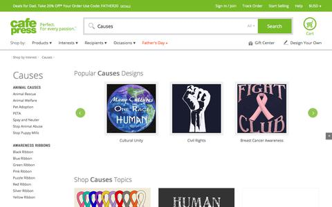Causes Gifts: T-Shirts and More - CafePress