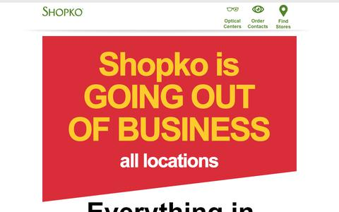 Screenshot of Home Page Support Page shopko.com - Shopko & Shopko Hometown | Free pick up in-store on select items - captured April 28, 2019