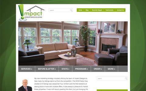 Screenshot of Testimonials Page impactids.com - Testimonials  Interior Design Solutions - captured Oct. 6, 2014
