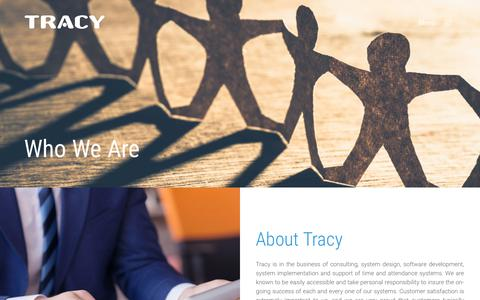 Screenshot of About Page tracyinc.com - Who We Are | Tracy Inc - captured Oct. 19, 2018