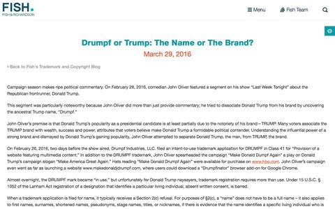 Screenshot of fr.com - Drumpf or Trump: The Name or The Brand? | Fish - captured March 30, 2016