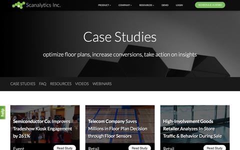 Screenshot of Case Studies Page scanalyticsinc.com - Case Studies | Scanalytics - captured Nov. 18, 2015