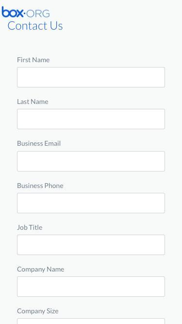 Box.org Contact Us