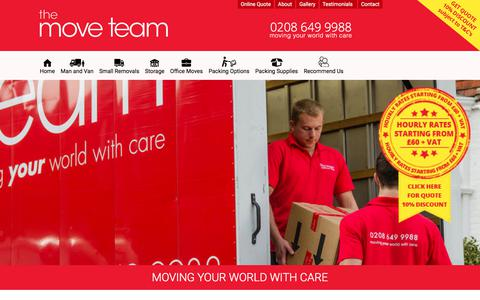 Screenshot of Site Map Page themoveteam.co.uk - Sitemap - The Move Team - captured Sept. 21, 2018