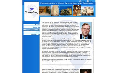 Screenshot of About Page dpconsultingusa.com - DP Consulting, Hotel Management and Consulting, Hospitality Services - captured Sept. 30, 2014