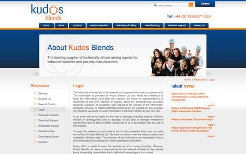 Screenshot of Terms Page kudosblends.com - Legal - Kudos Blends Limited - captured Sept. 30, 2014