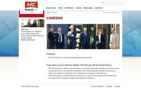 Screenshot of Jobs Page arcfinancial.com - ARC Financial Corp. - captured Oct. 4, 2014