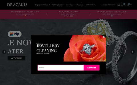 Screenshot of Home Page dracakis.com.au - Dracakis Jewellers   Online Jewellers in Brookvale & Mosman - captured Nov. 14, 2018