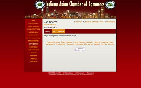 Screenshot of Jobs Page asianchamber-in.org - Job Search - Indiana Asian Chamber of Commerce - captured Oct. 6, 2014