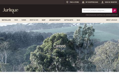 Screenshot of Jobs Page jurlique.com.au - Careers  | Blog - captured Aug. 4, 2018