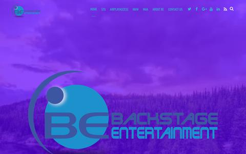 Screenshot of Home Page backstageentertainment.net - Home - Backstage Entertainment - captured Nov. 6, 2018