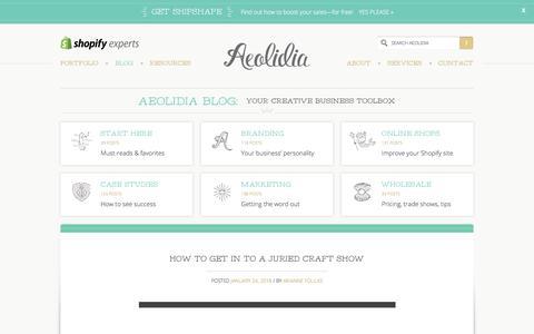 Screenshot of Blog aeolidia.com - Aeolidia Blog: your creative business toolbox - captured Jan. 28, 2018