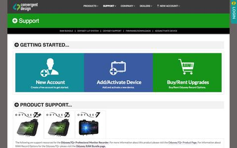 Screenshot of Support Page convergent-design.com - Support - Convergent Design - captured July 24, 2015