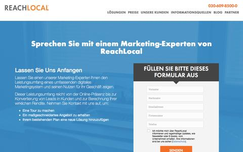 Screenshot of Landing Page reachlocal.com - Kontaktieren Sie Uns | ReachLocal - captured July 25, 2016