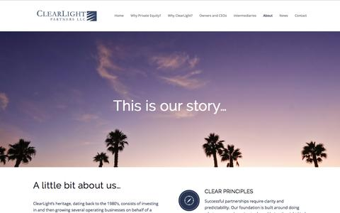 Screenshot of About Page clearlightpartners.com - About - ClearLight Partners - captured July 18, 2018