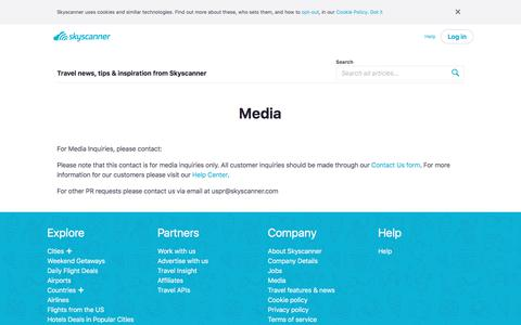 Screenshot of Press Page skyscanner.com - Media   Skyscanner USA - captured June 5, 2018