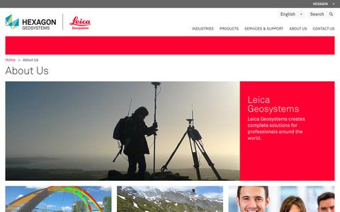 Screenshot of About Page leica-geosystems.com - About Us - captured Jan. 22, 2016