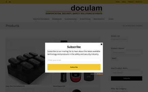 Screenshot of Products Page doculam.co.za - Products Archive - Doculam - captured Aug. 7, 2018