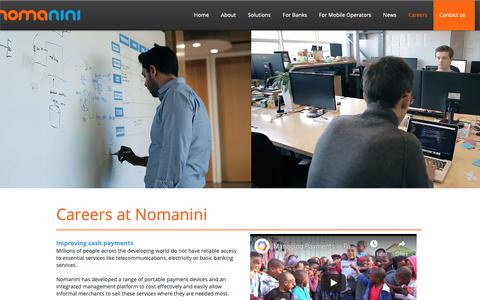 Screenshot of Jobs Page nomanini.com - nomanini | Careers - captured Nov. 3, 2018