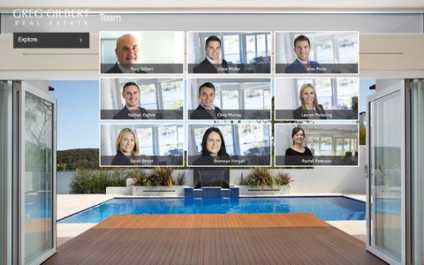 Screenshot of Team Page greggilbert.com.au - Team | Greg Gilbert Real Estate - captured Feb. 2, 2016