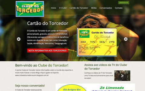Screenshot of Home Page clubedotorcedor.com.br - .: Clube do Torcedor - captured Sept. 28, 2018