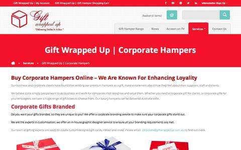 Screenshot of Services Page giftwrappedup.com.au - Gift Wrapped Up | Corporate Hampers Gift Wrapped Up - captured May 17, 2017