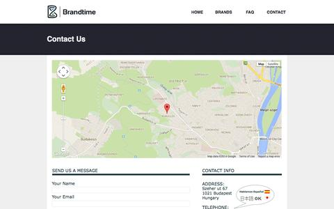 Screenshot of Contact Page brandtime.com - Contact - Brandtime - captured Nov. 4, 2014