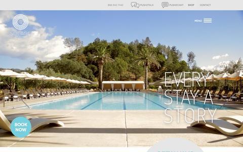 Screenshot of Home Page solagecalistoga.com - Napa Valley Resort   Solage Calistoga Resort and Spa - captured Oct. 2, 2015