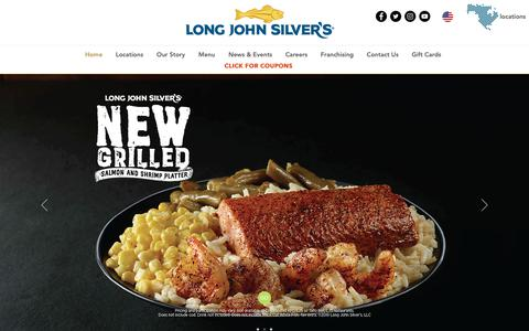Screenshot of Home Page ljsilvers.com - Long John Silver's - America's Favorite Seafood - captured May 20, 2019